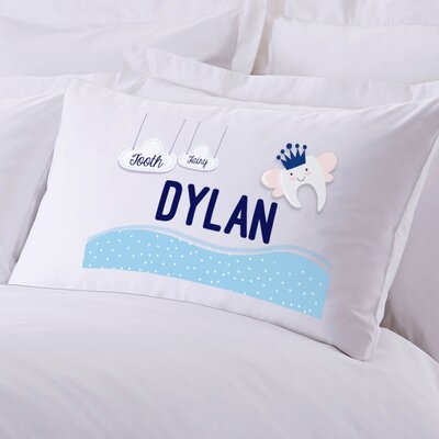 Boy's Tooth Fairy Personalized Pillow Case