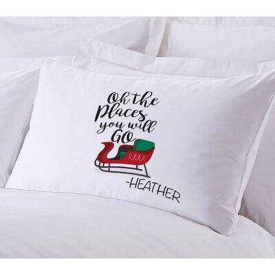 Personalized Santas Sleigh Pillow Case