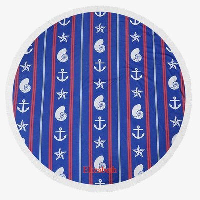 Anchors Stars and Shells Custom Round Terry Beach Towel