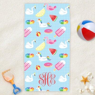 Personalized Summer Fun Monogram Beach Towel