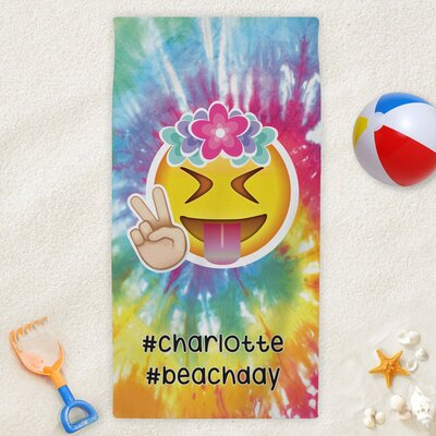 Custom #Beachday Tie Dye Kids Beach Towel