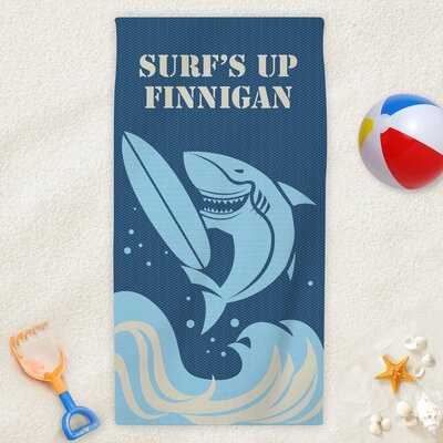 Surfs Up Personalized Kids Beach Towel