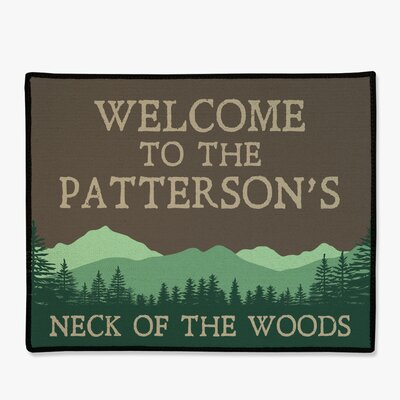 Personalized Mountains & Trees Welcome Doormat