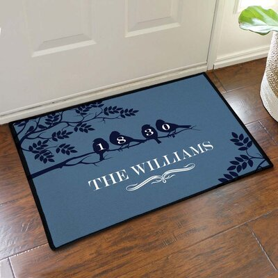 Silhouette Birds on a Branch Custom Doormat