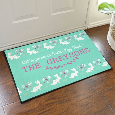 Easter Egg Hunt Personalized Doormat