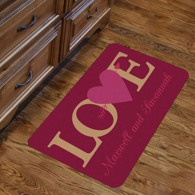 Personalized Couples Love Indoor Kitchen Mat
