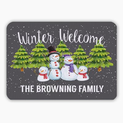 Personalized Winter Welcome Indoor Doormat