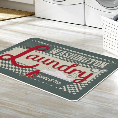 Personalized Loads of Fun Laundry Kitchen Mat