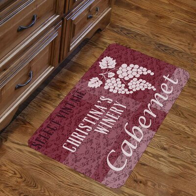 Personalized Vintage Winery Design Kitchen Mat