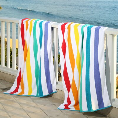 Plush Rainbow Beach Towel