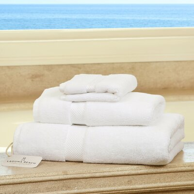 Plush 3 Piece Bath Towel Set Color: White