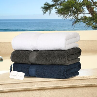 Plush Bath Towel Color: White