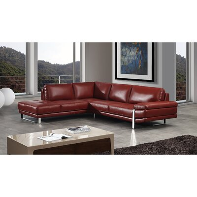 Hennig Sectional Upholstery: Red, Orientation: Right Hand Facing