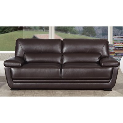 Vigil Leather Sofa Finish: Dark Brown