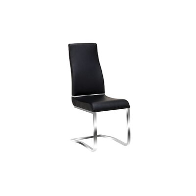 Henfield Upholstered Dining Chair Upholstery: Black