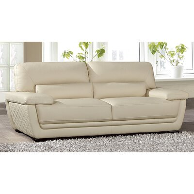 Vigil Leather Sofa Finish: Cream