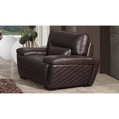 Vigil Armchair Finish: Dark Brown