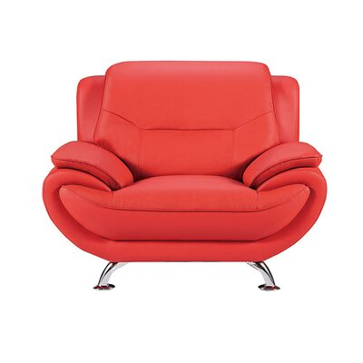 208 Armchair Upholstery: Red