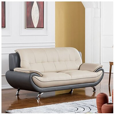 208 Modern Loveseat Upholstery Color: Light Gray/Dark Gray