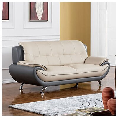 208 Modern Sofa Upholstery Color: Light Gray / Dark Gray