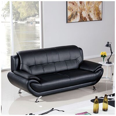208 Modern Sofa Upholstery Color: Black