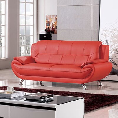 208 Modern Sofa Upholstery Color: Red