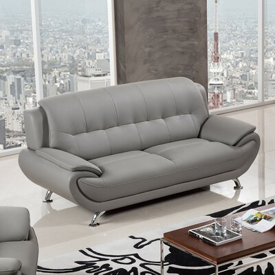 208 Modern Sofa Upholstery Color: Light Gray/Dark Gray