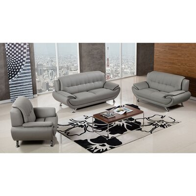 208 Modern Loveseat Upholstery Color: Gray