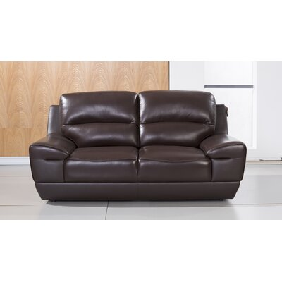 Stratton Leather Loveseat