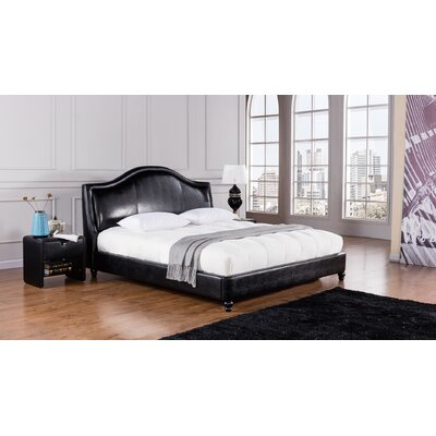 Riviera Upholstered Platform Bed Size: King