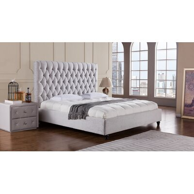 Sterling Upholstered Platform Bed Size: King
