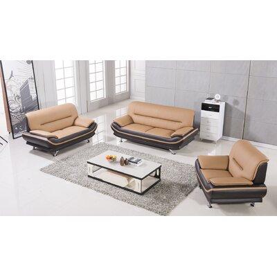 AmericanEagleInternationalTrading AE709-YO-BR Mason 3 Piece Living Room Set Upholstery