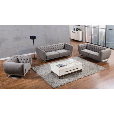 Glantz 3 Piece Living Room Set