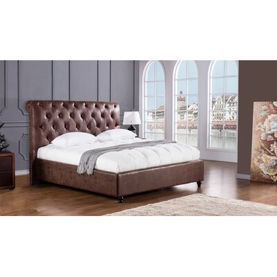 Brooks Upholstered Platform Bed Size: King