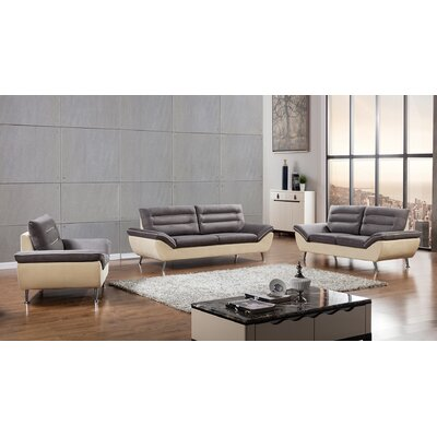Dorsey 3 Piece Living Room Set