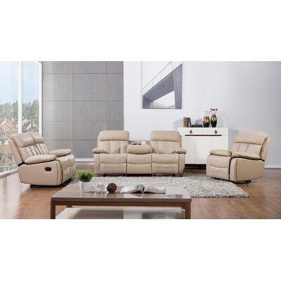 Dunbar 3 Piece Living Room Set Upholstery: Tan