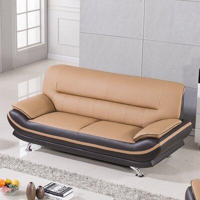 Mason Sofa Upholstery: Yellow / Brown