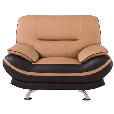 Mason Lounge Chair Upholstery: Yellow / Brown