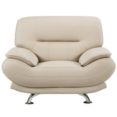 Mason Lounge Chair Upholstery: Cream