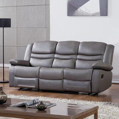 Bayfront Reclining Sofa Upholstery: Dark Gray