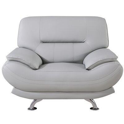 Mason Lounge Chair Upholstery: Light Gray