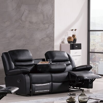 Bayfront Reclining Sofa Upholstery: Black