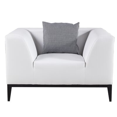 Olivia Arm Chair Upholstery: White