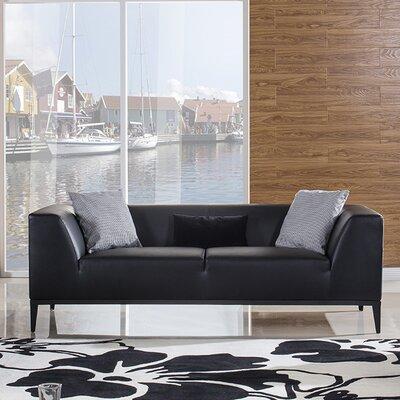 Olivia Sofa Upholstery: Black