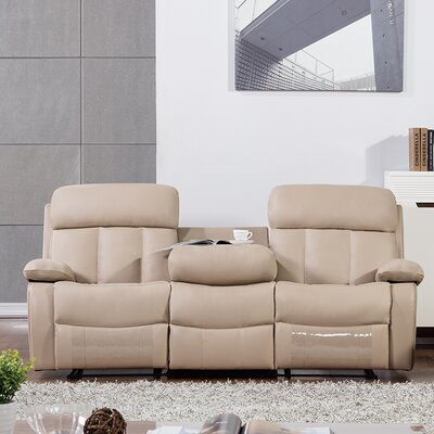 Dunbar Reclining Sofa Upholstery: Tan