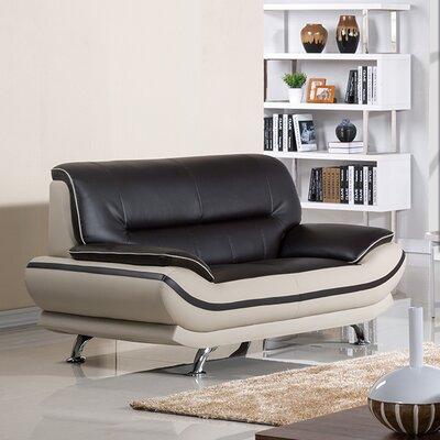 Mason Loveseat Upholstery: Mahogany/Light Gray