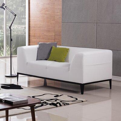 Olivia Loveseat Upholstery: White