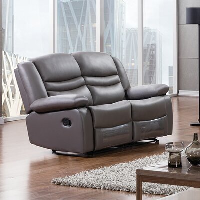 Bayfront Reclining Loveseat Upholstery: Dark Gray