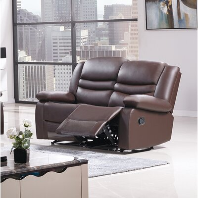 Bayfront Reclining Loveseat Upholstery: Dark Brown