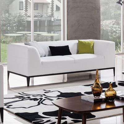 Olivia Sofa Upholstery: White